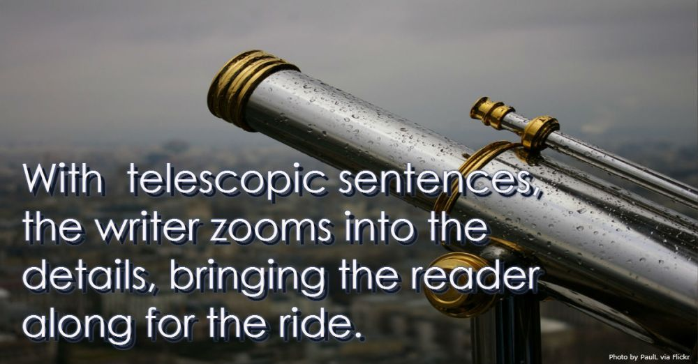 writing telescopic sentences